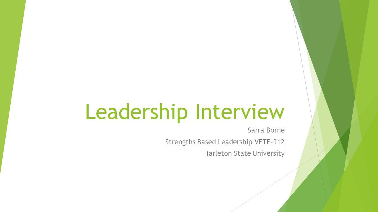 I chose Dr.Derek Burney, DVM, PhD, DACVIM (SAIM) as the subject for my leadership interview.