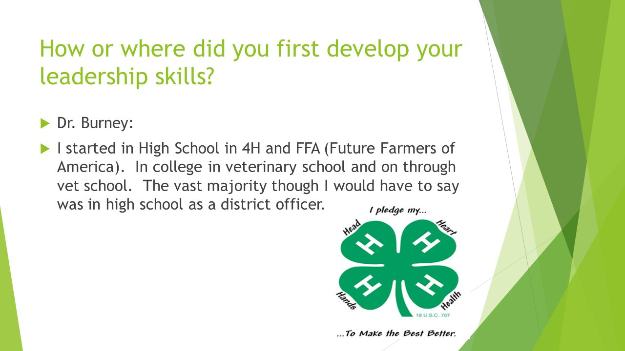 What is the 4H club.The 4H club is a youth development and empowerment organization.