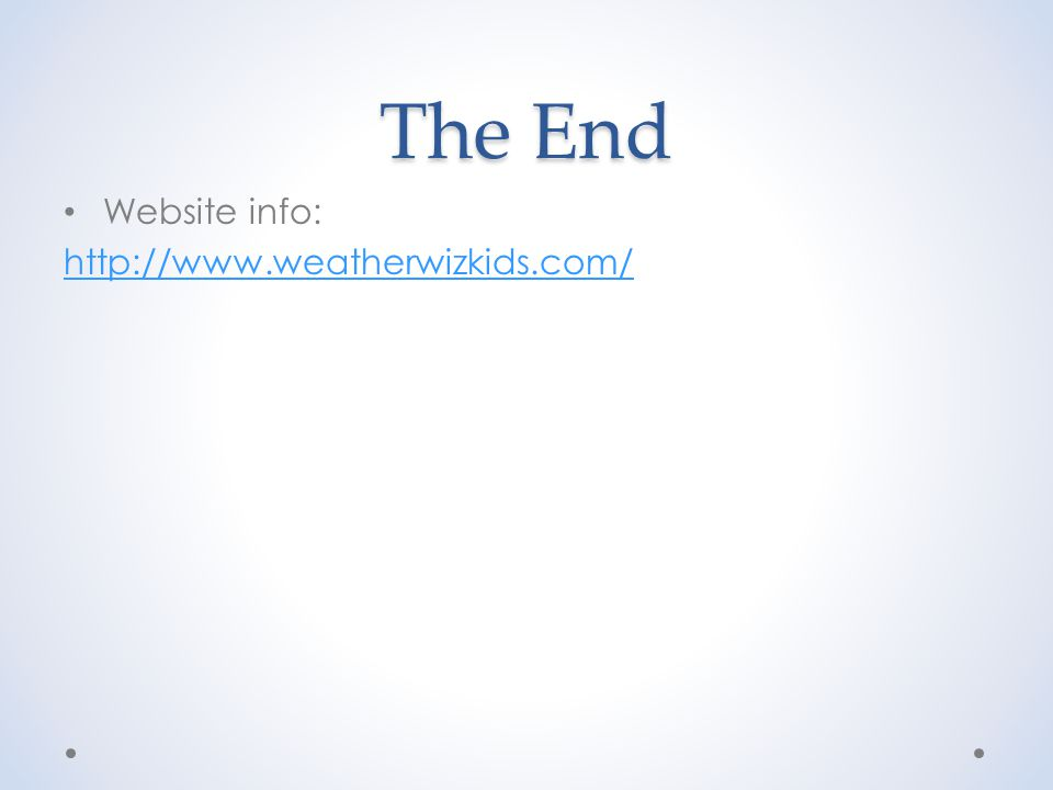 The End Website info: