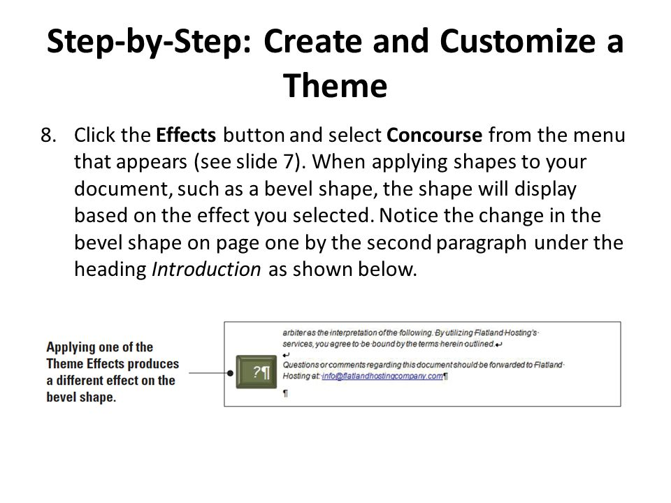 Step-by-Step: Remove Page Numbers USE the document that is open from the previous exercise.