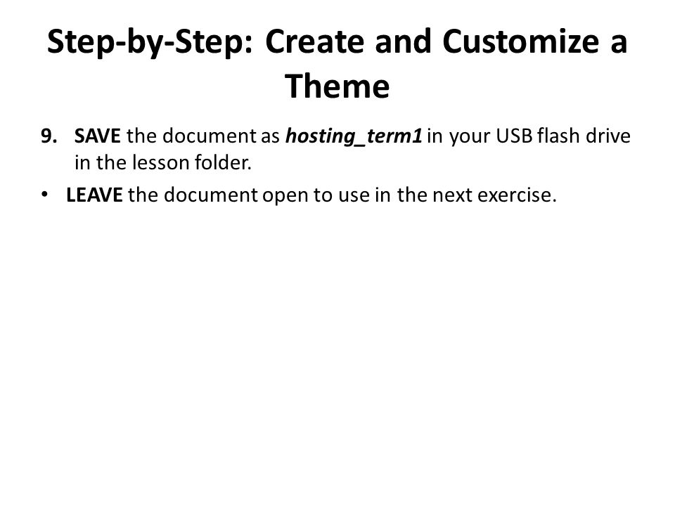 Step-by-Step: Use Built-In Building Blocks USE the document that is open from the previous exercise.