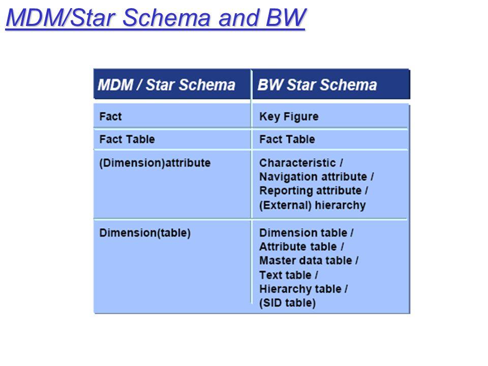 MDM/Star Schema and BW