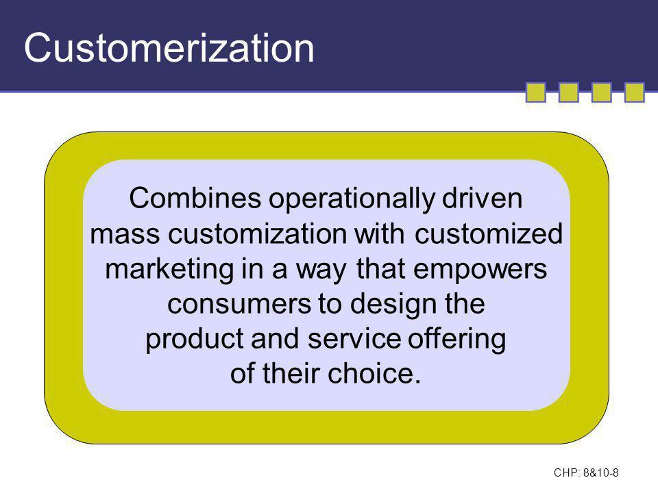 CHP: 8&10-9 Examples of Market Customization