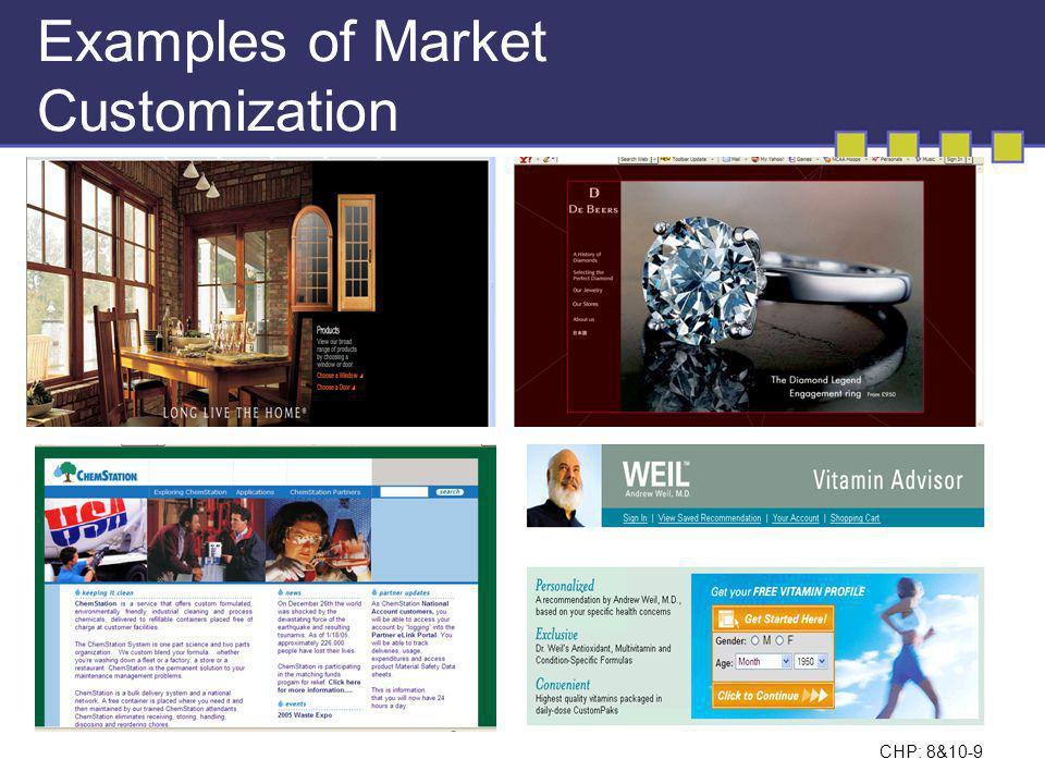 CHP: 8&10-10 Segmenting Consumer Markets Geographic Demographic Psychographic Behavioral