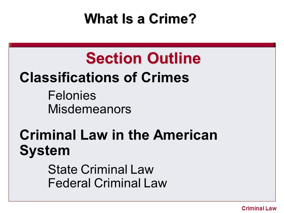 What Is a Crime.