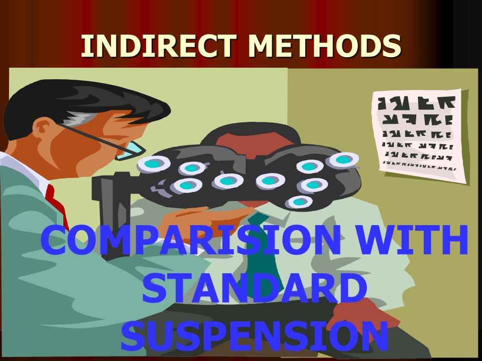 INDIRECT METHODS COMPARISION WITH STANDARD SUSPENSION