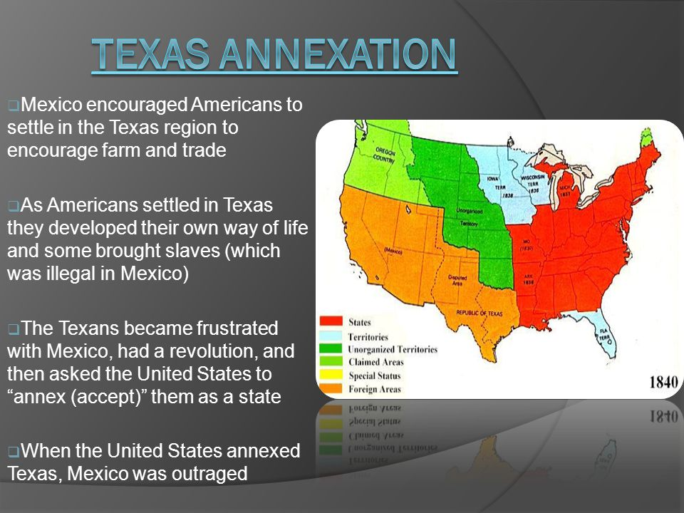  Mexico encouraged Americans to settle in the Texas region to encourage farm and trade  As Americans settled in Texas they developed their own way o