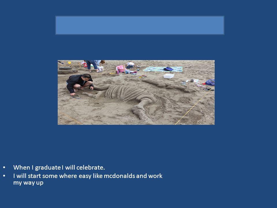 I will be a paleontalogist When I graduate I will celebrate.