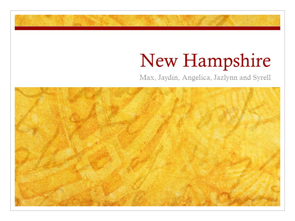 New Hampshire 1. New England 2. Concord is the capital of New Hampshire
