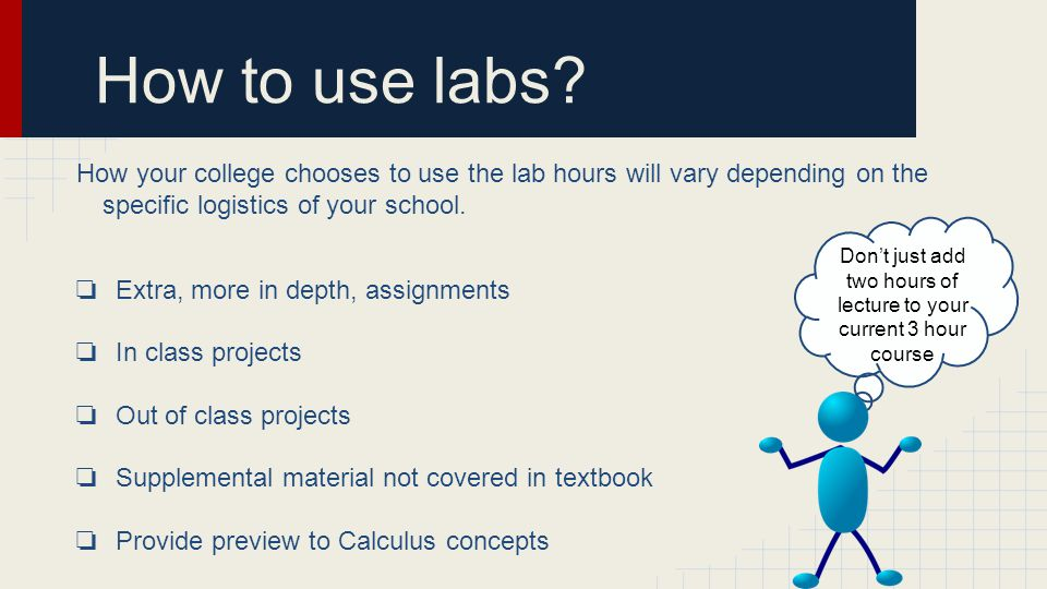 How to use labs.