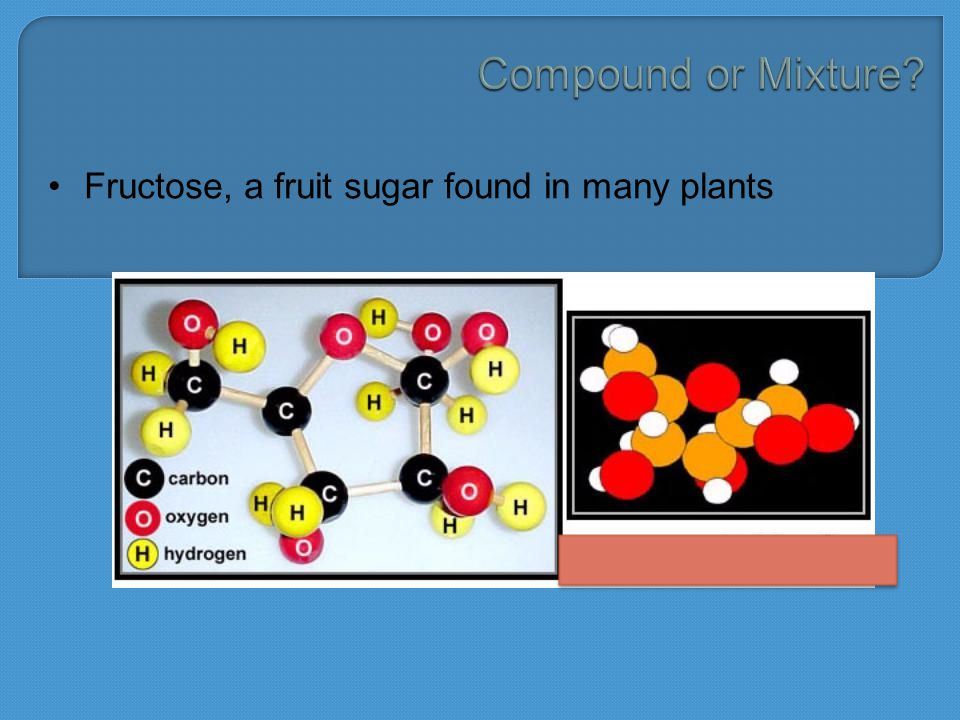 Fructose, a fruit sugar found in many plants