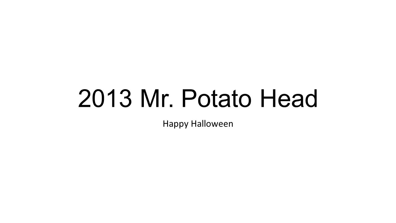 2013 Mr. Potato Head Happy Halloween