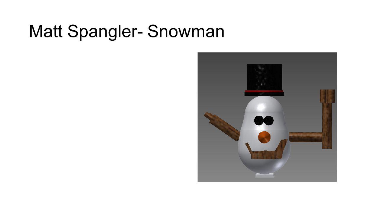 Matt Spangler- Snowman