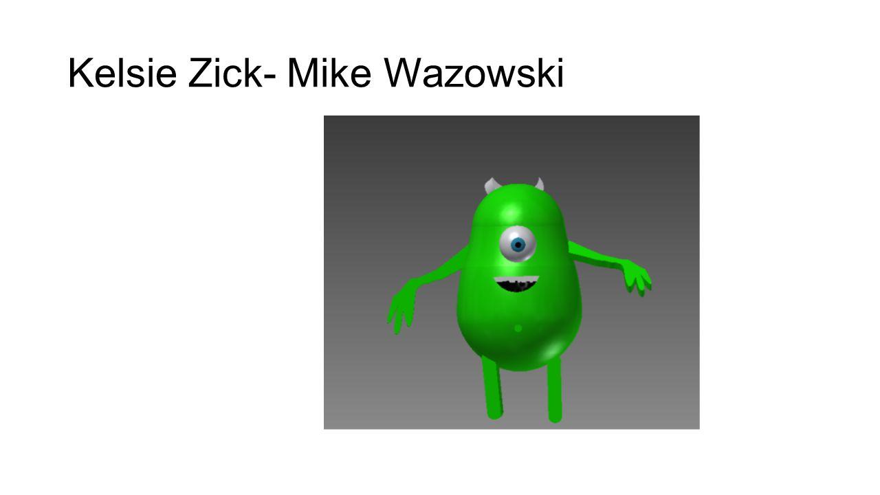 Kelsie Zick- Mike Wazowski