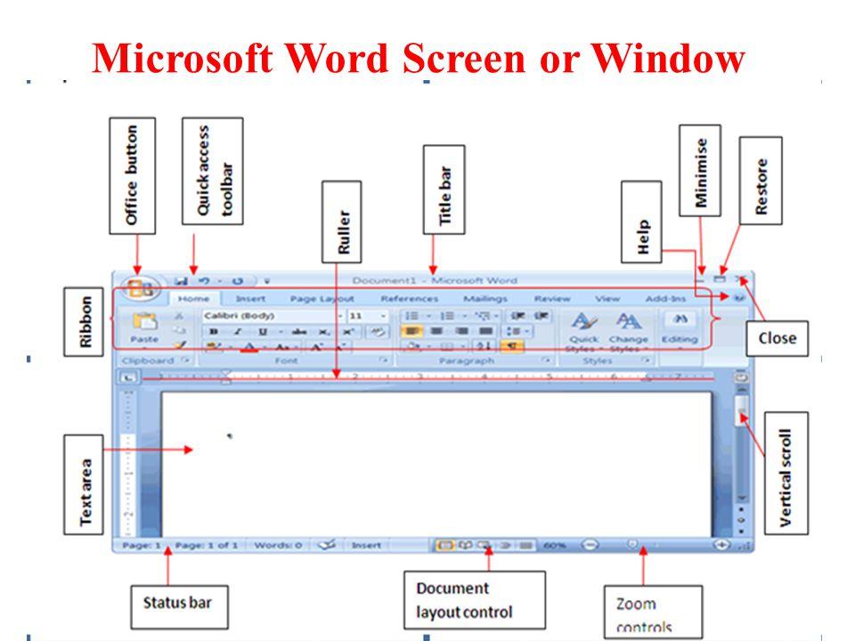 Microsoft Word Screen or Window 17