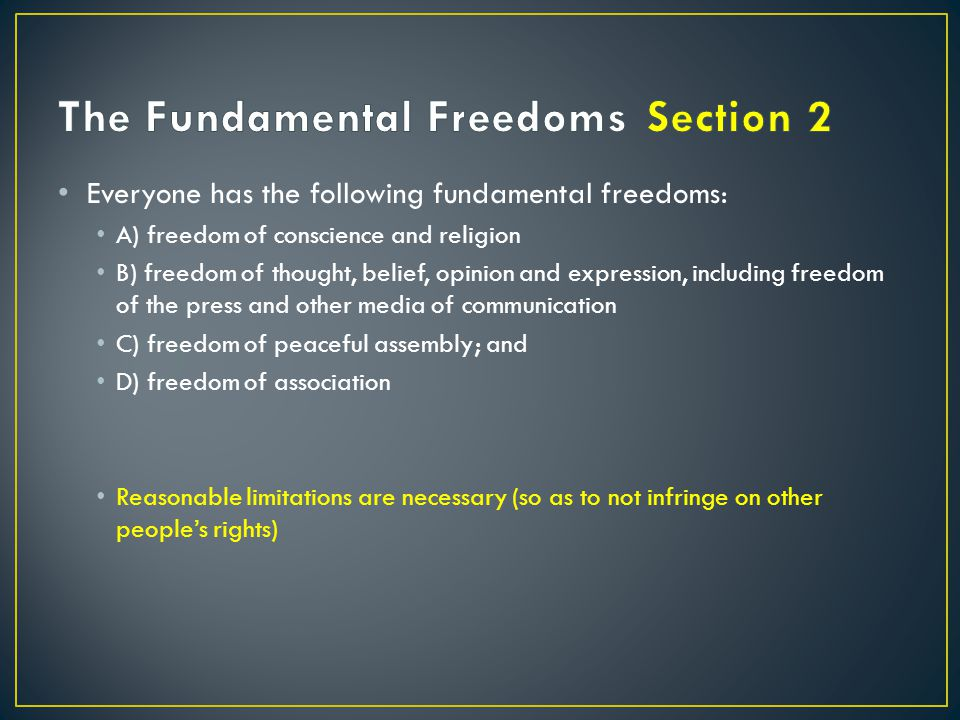 32 – Applies to federal and Provincial Governments 33 – Notwithstanding Clause (concerning sections 2, 7 – 15)