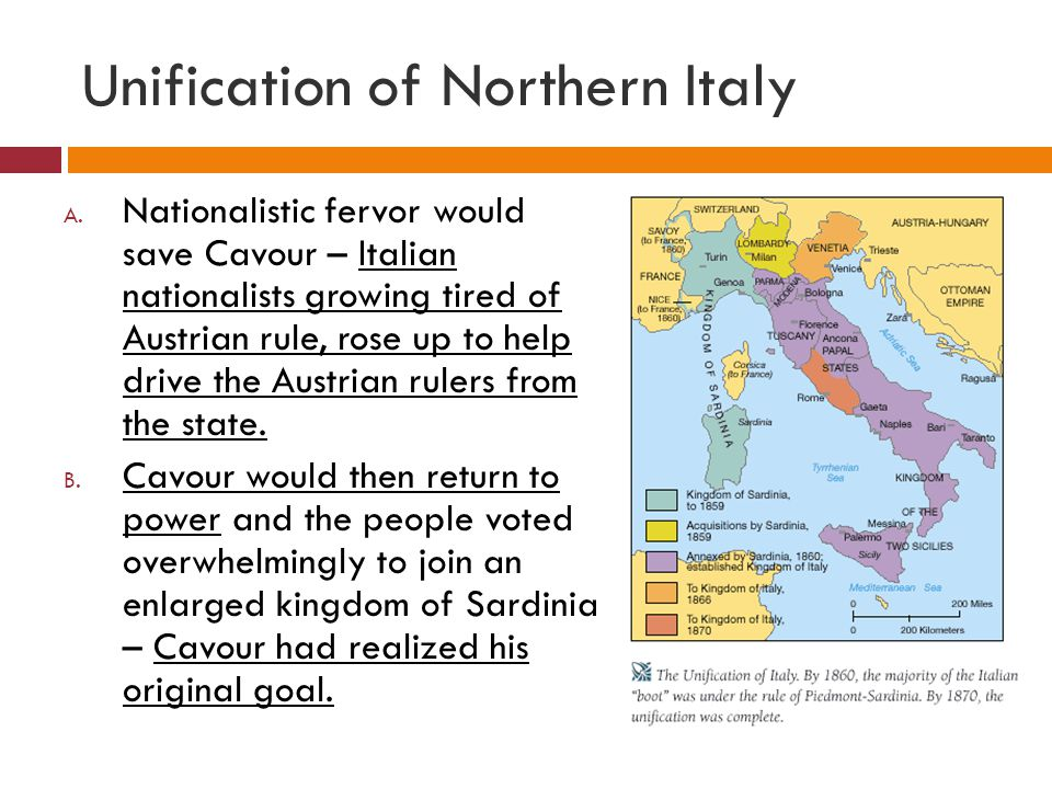Unification of Northern Italy A.