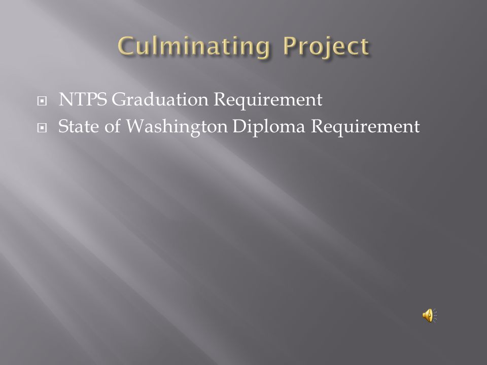 NTPS Graduation Requirement  State of Washington Diploma Requirement