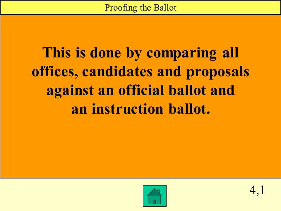 3,4 When a voter deliberately shows any person in the polling place how he or she voted, this ballot is void and must be rejected; you cannot permit t