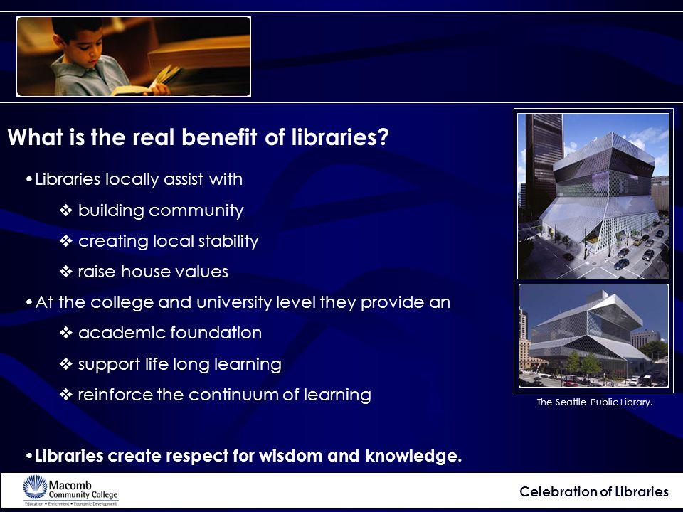 What is the real benefit of libraries.