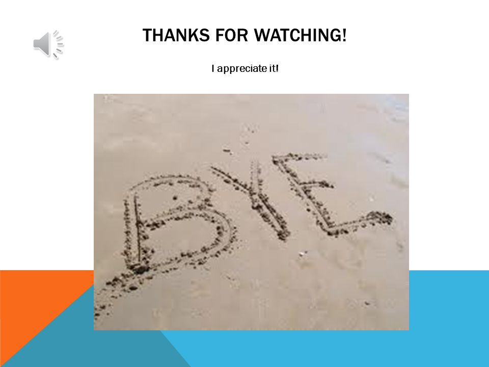 THANKS FOR WATCHING! I appreciate it!