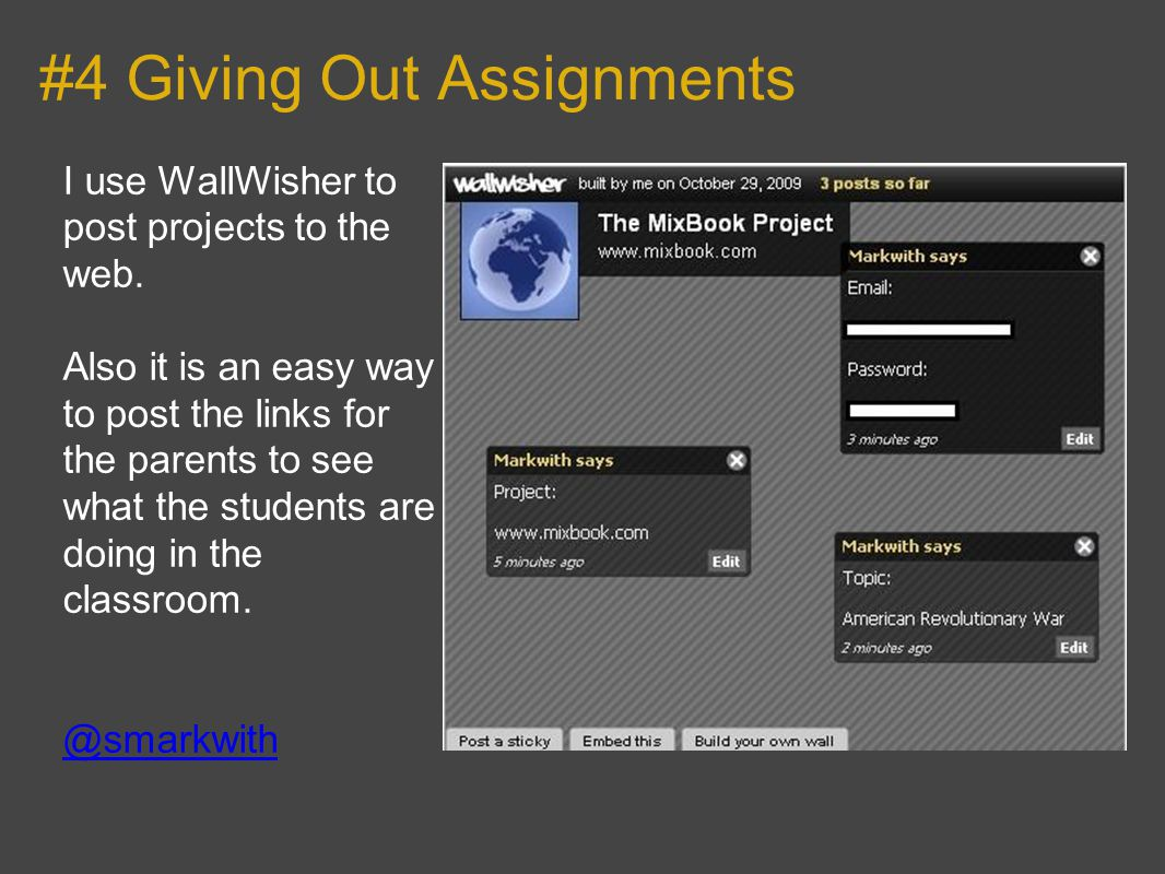 #15 Review of the Year I m going to use wallwisher with my class for a review of 2009 and saying what they want to achieve in 2010.