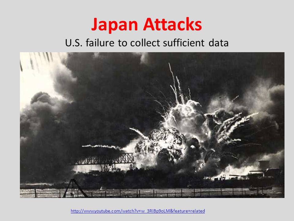 Japan Attacks U.S. failure to collect sufficient data http://www.youtube.com/watch?v=w_3RiBp9oLM&feature=related