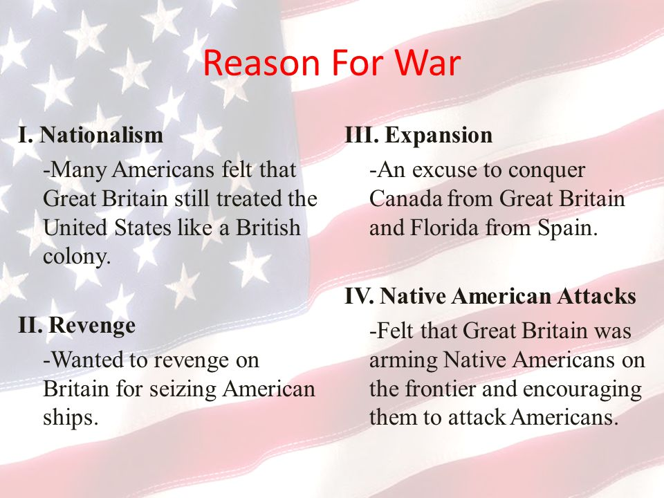 Reason For War I.