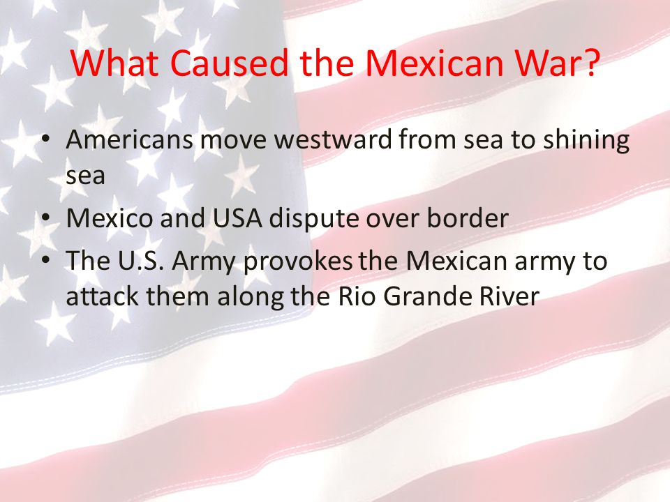 What Caused the Mexican War.