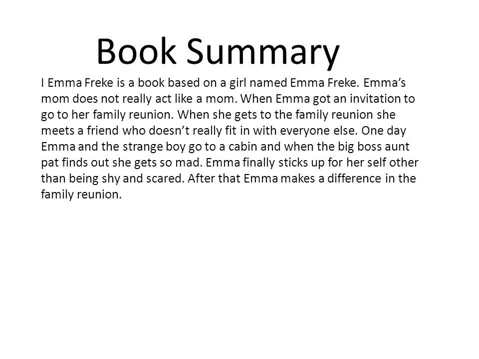 Book Summary I Emma Freke is a book based on a girl named Emma Freke.