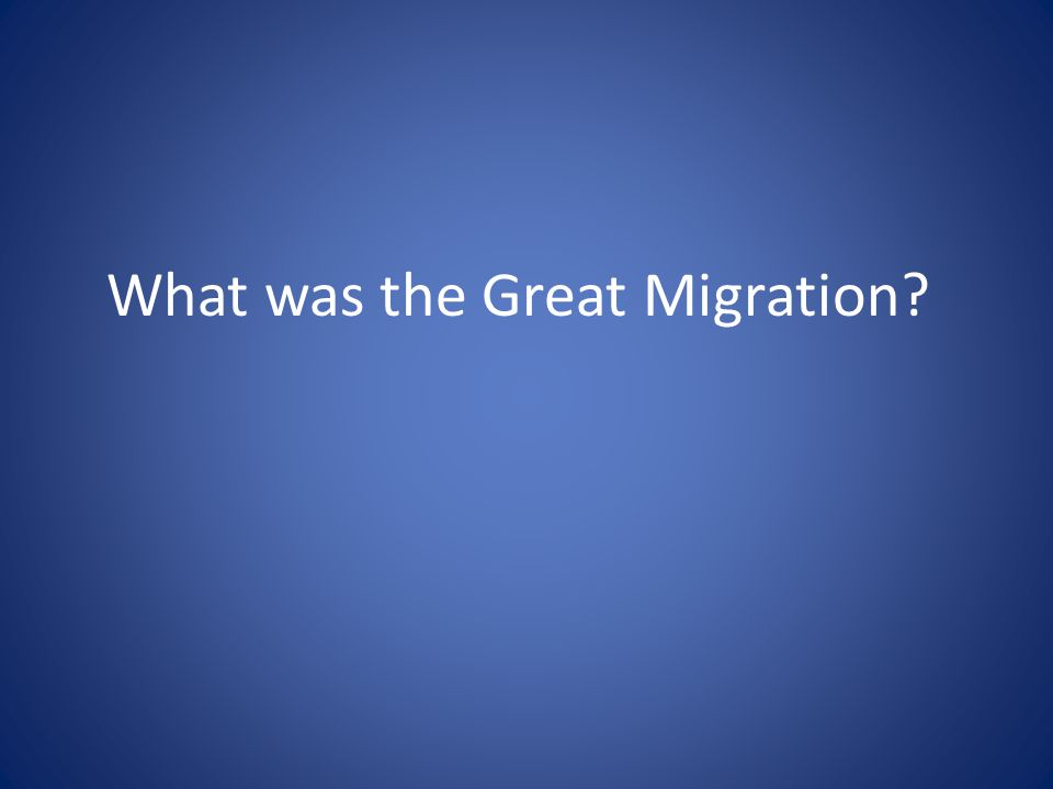 What was the Great Migration?