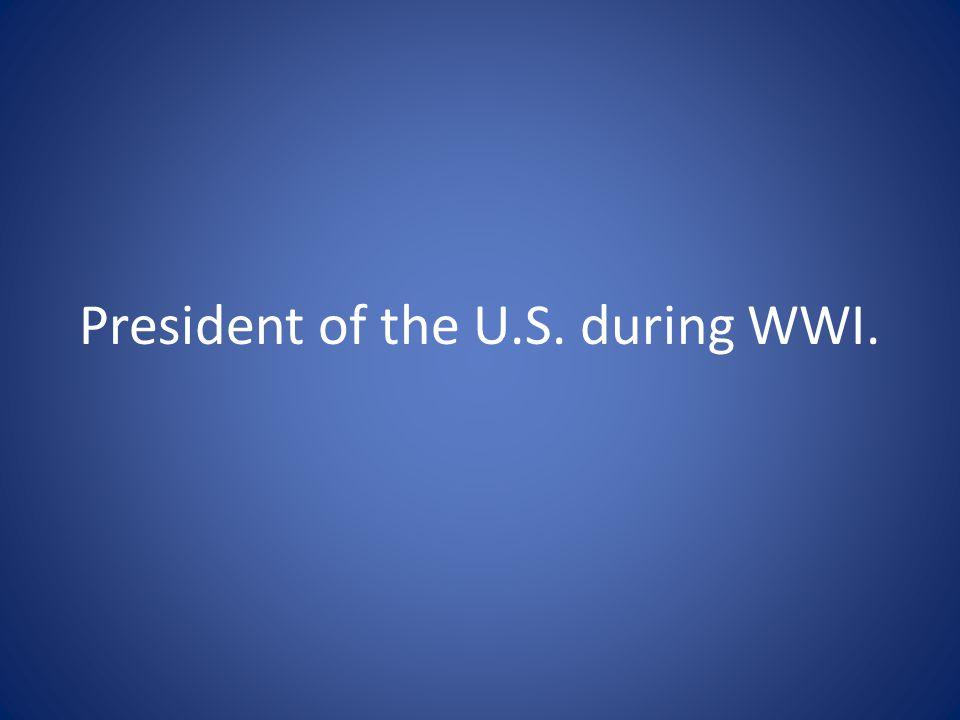 Who is Woodrow Wilson?