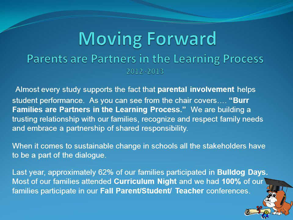 Almost every study supports the fact that parental involvement helps student performance.