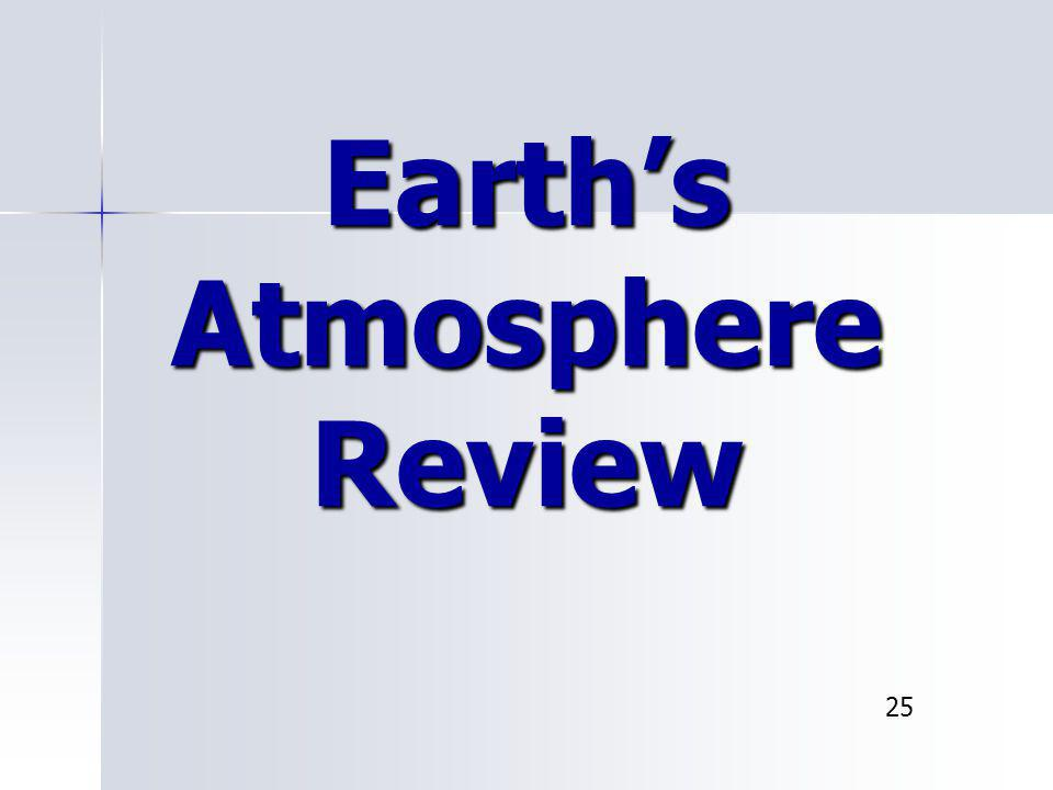 Earth's Atmosphere Review 25