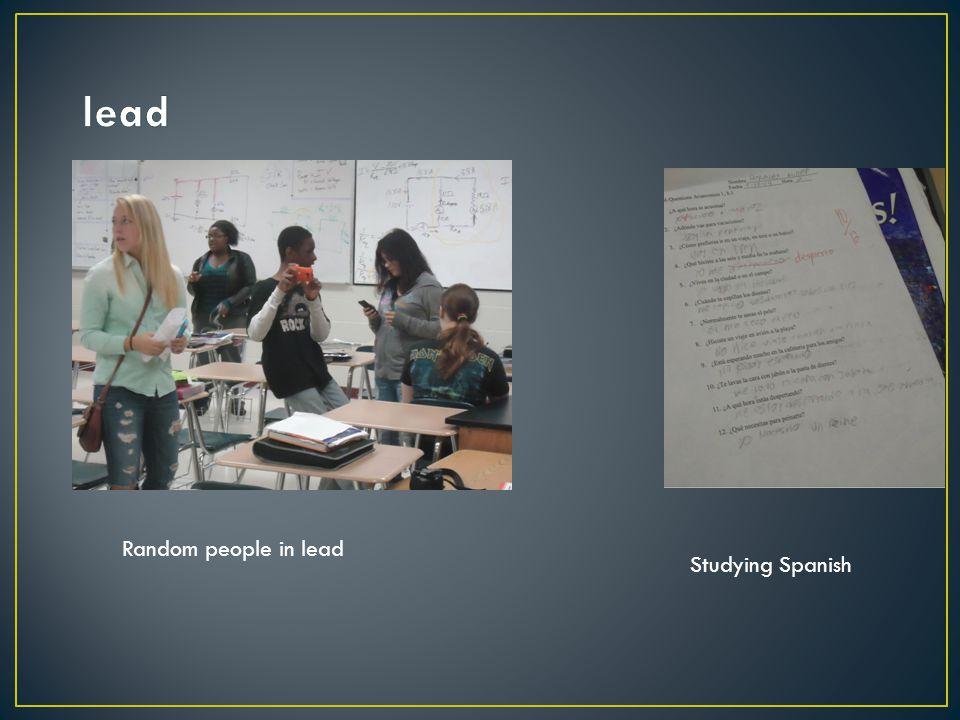 Studying Spanish Random people in lead
