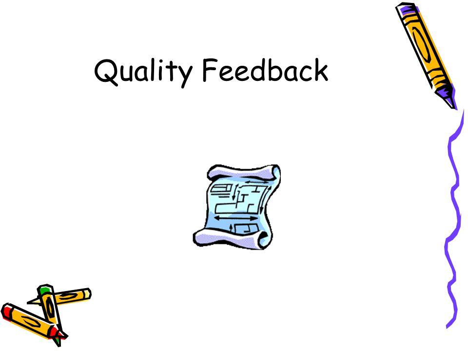 Quality Feedback