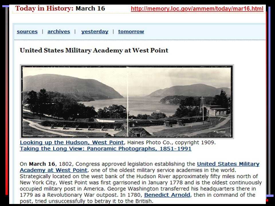 http://memory.loc.gov/ammem/today/mar16.html
