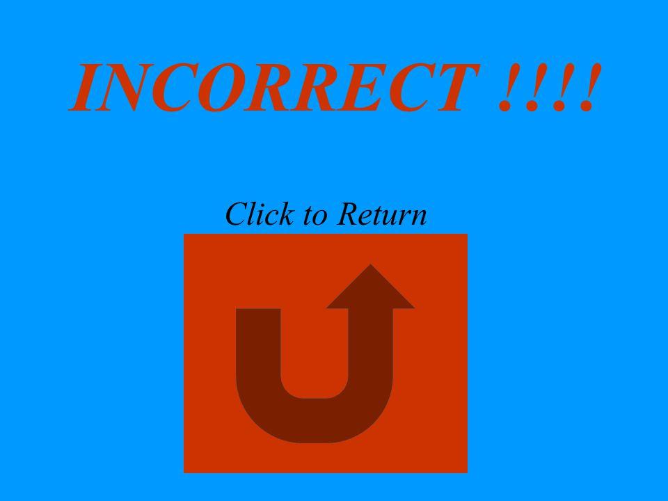 INCORRECT !!!! Click to Return