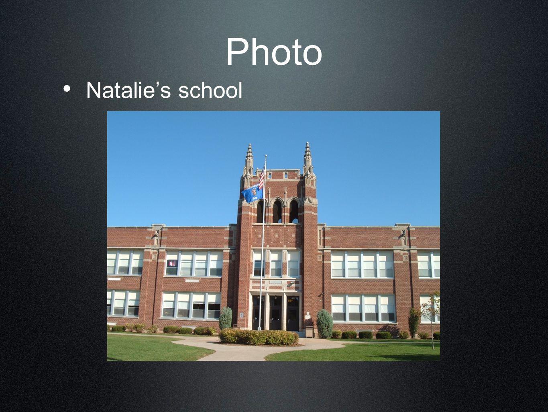 Photo Natalie's school