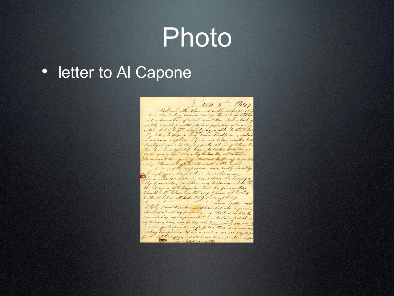 Photo letter to Al Capone
