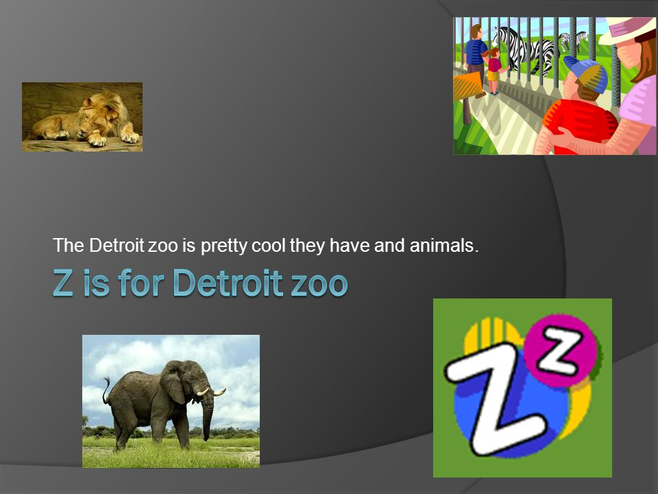 The Detroit zoo is pretty cool they have and animals.