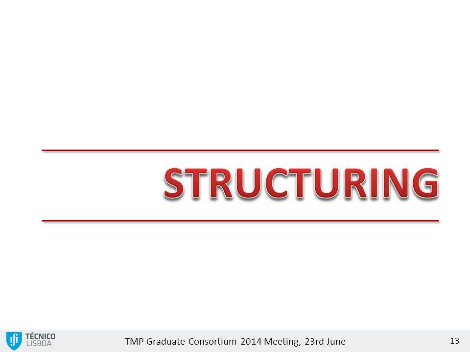 TMP Graduate Consortium 2014 Meeting, 23rd June 13