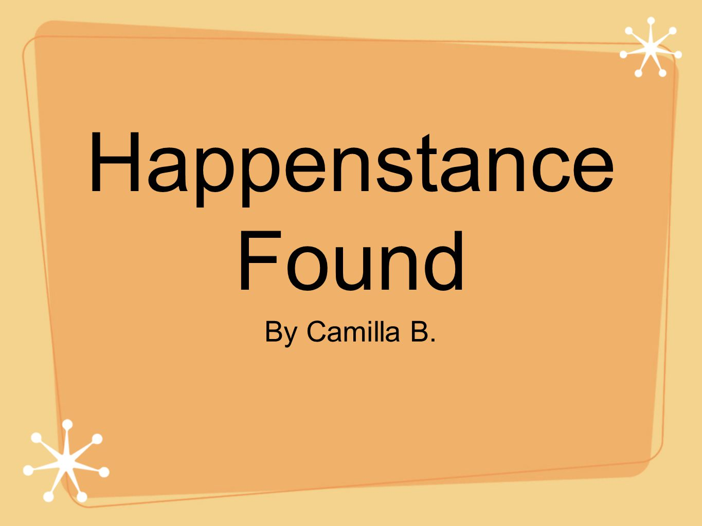 Battle If you did the battle last year, you may have read Happenstance Found by P.W Catanese.