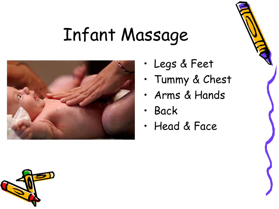 Infant Massage Legs & Feet Tummy & Chest Arms & Hands Back Head & Face