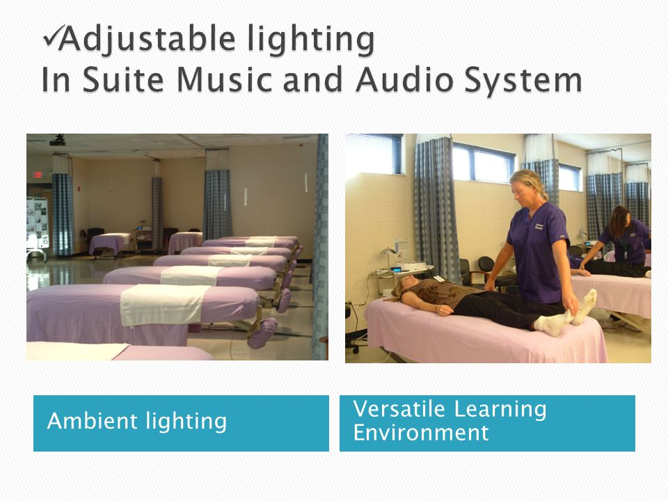 Ambient lighting Versatile Learning Environment