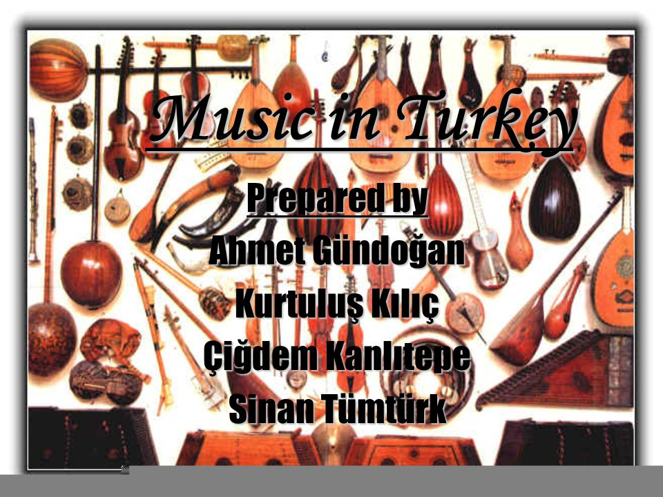 Summary of the presentation In this presentation we mainly focused on this topics Some Basic Turkish Music Instruments Some examples from Classical Turka Music Ottoman Mehter Band Famoous Artists and composers in Turk Music and Turkish Folk Music Famoous Artists and composers in Turk Music and Turkish Folk Music Some examples from Turk Folk And Pop Music