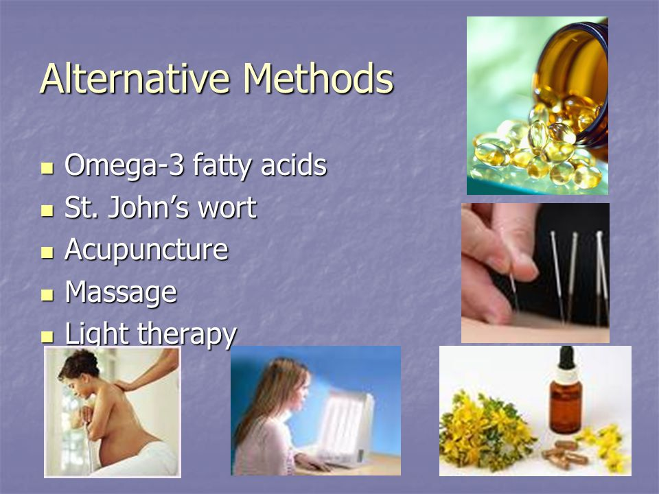 Alternative Methods Omega-3 fatty acids Omega-3 fatty acids St.