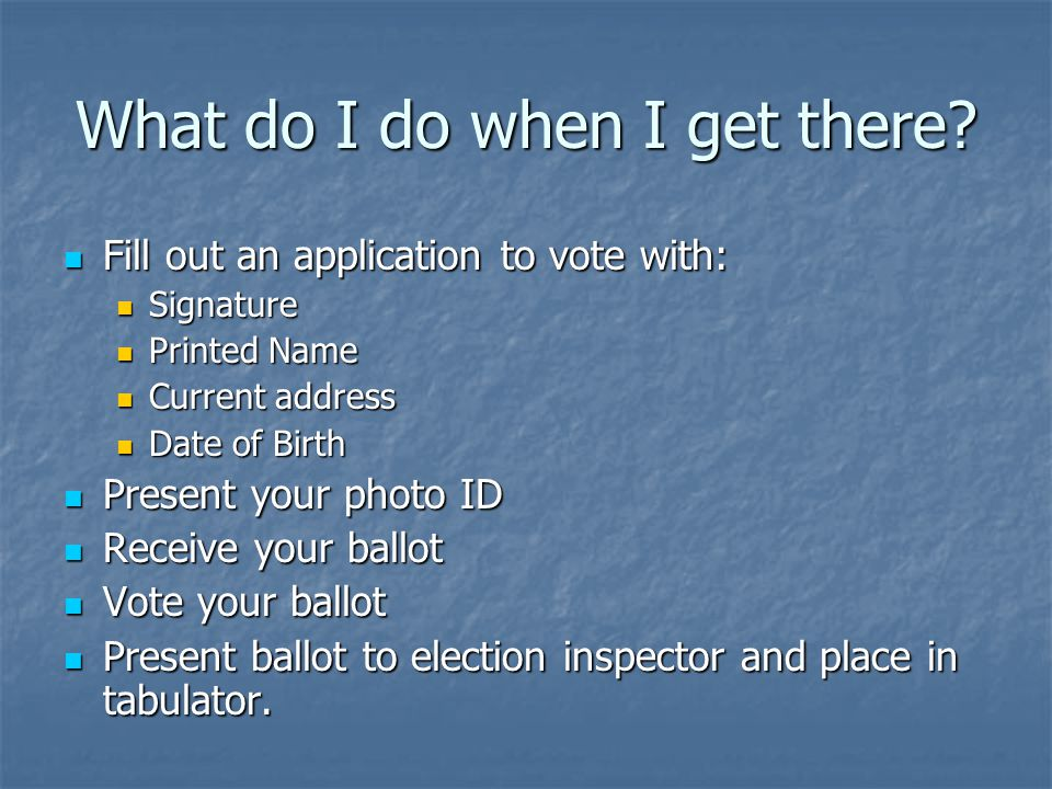 How do I know my vote will count.