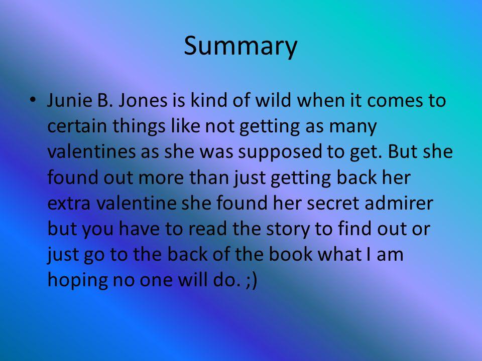 Summary Junie B.