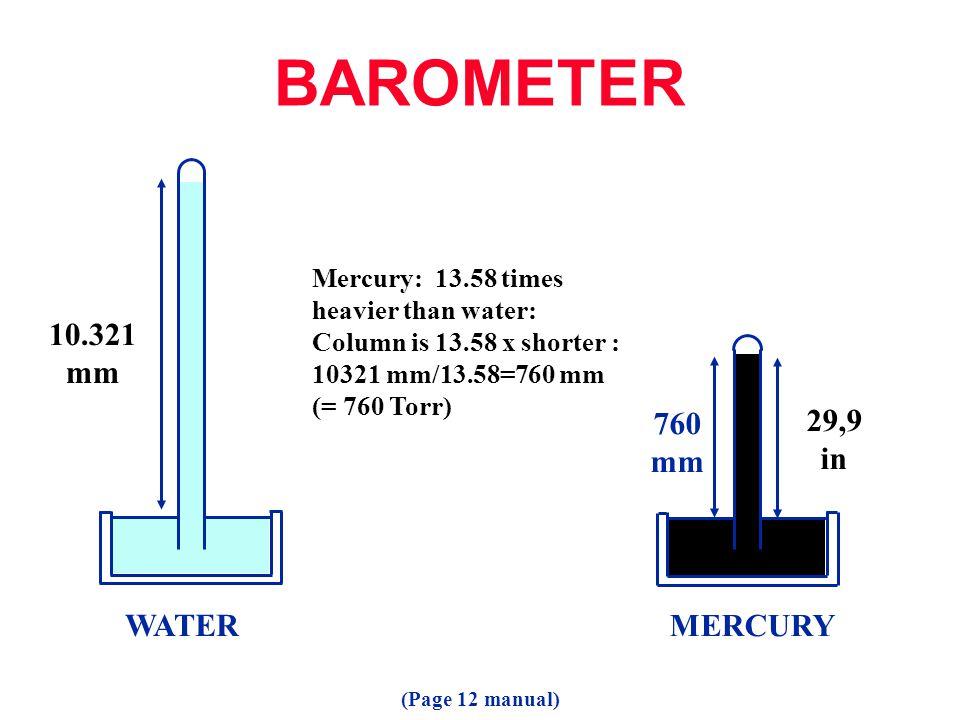Vapor Pressure (Page 56 manual)